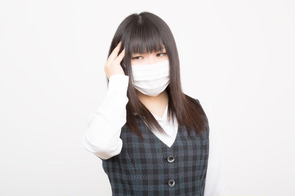 病気でマスク